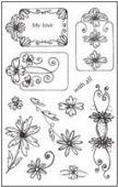 Woodware - Daisy Tag Set - Clear Magic Stamp Set - HMCL404